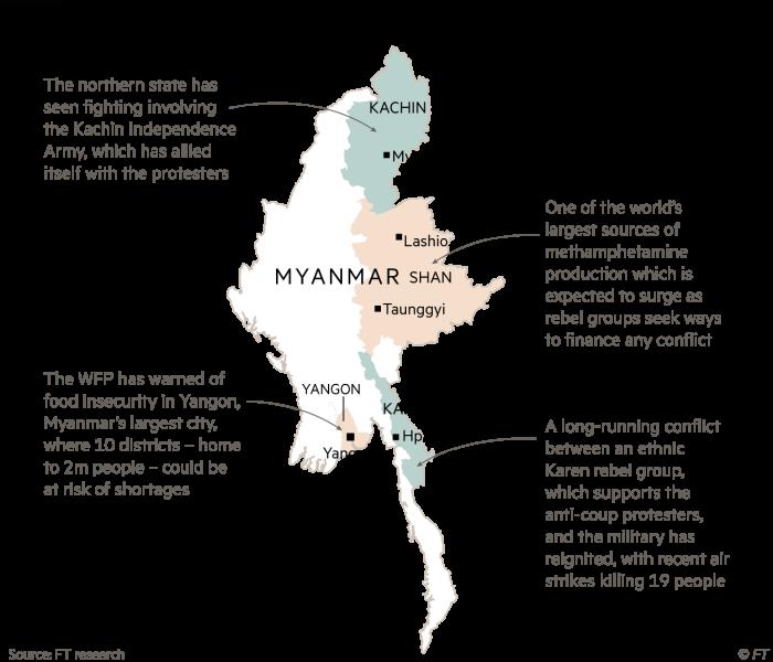 Myanmar regions - chaos has spread to the regions