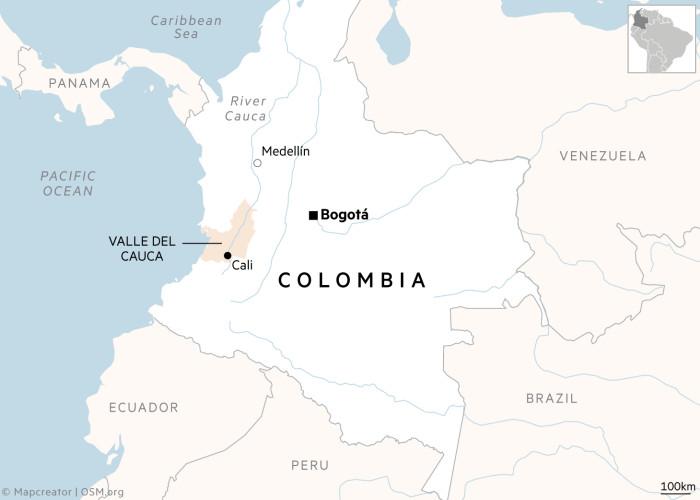 Cali Columbia map